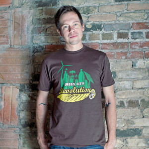 Green City Mens T-shirt Model