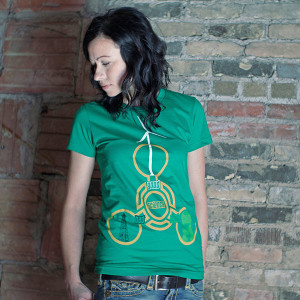 Mad Science Womens T-shirt, Made in America by PROGRES Label