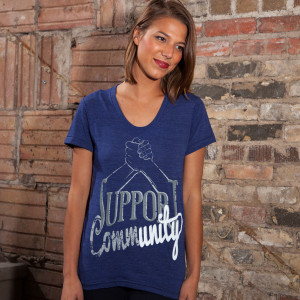 Support Community Women's T-shirt, American-made by PROGRESS Label